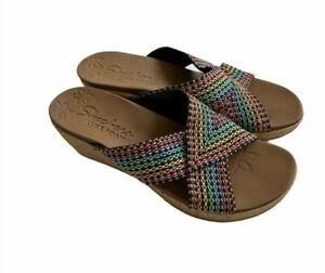 Skechers Women's Beverlee Luxe Foam Wedge Sandals Slip On Sz 8
