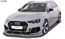 RDX Spoilerlippe für Audi RS4 B9 A4 S4 Spoilerschwert Frontansatz Frontspoiler