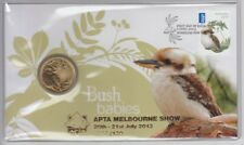 Coin Australia $1 Bush Baby PNC coin cover APTA Melbourne 2013 overprint scarce