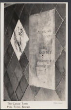 Sussex Postcard - The Canute Tomb, Holy Trinity, Bosham    RS7833