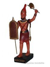 RECHEF Figura Dios Antiguo Egipto 10-15 cms Resina Faraón Pharaoh