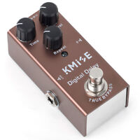 Kmsie Digital Delay Guitar Effect Pedal Mini Single True Bypass DC 9V