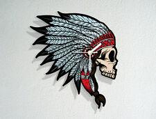 Indian Skull Head - Tribe Chieftain - Native American - Novelty Gift Wall Clock
