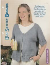 Knitting Pattern ~ Ladies Blue Summer Breezes Sweater ~ Instructions