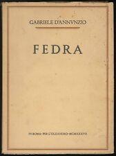 Fedra D'Annunzio Gabriele L'Oleandro 1937