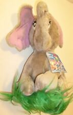 "Dr Seuss Horton Who Hatches the Egg Elephant stuffed Doll plush 12"", 1983 Coleco"