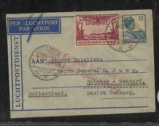 Netherlands  Indies  airmail  cover to  Germany      MS1228