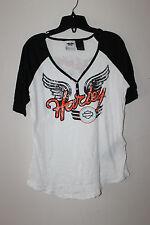 New Harley-Davidson Decorative Button Front women short sleeve t-shirt size 1W