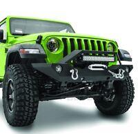"""Front Bumper+21"""" LED Mount+Fog Light Ho+Winch Plate for 18-19 Jeep Wrangler JL"""