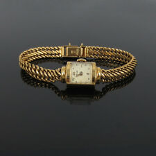 Vintage Rolex Tudor 18K Yellow Gold Manual Wind Lady's Watch