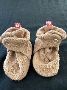 Zutano NWOT Brown Fleece Booties- 6 Months
