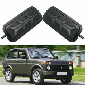 For Lada Niva 4X4 Pair DRL LED Daytime Running Lights with Flowing Turn Signals