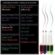 Menü-Planer magnetisch Wochen-planer Magnettafel Küche Einkaufsliste Essensplan