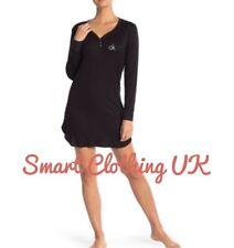 Calvin Klein Women's Logo Loungewear/Nightdress Long Sleeve Black (RRP £60)