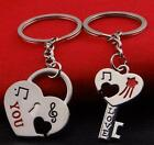 New Good Couple Keychain Keyring Keyfob Valentine's Day 1 Pair Lover Gift heart