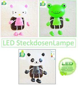 LED KINDER Steckdosenleiste Steckdosen licht  Nachtlicht   dämmerungsautomatik