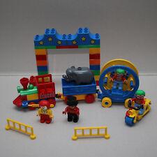 Lego Duplo Zirkus Zircus mit Eisenbahn und Röhnrad Rhönrad