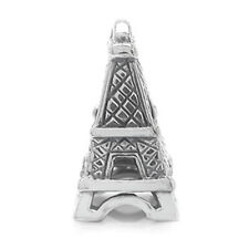 925 Sterling Silver EIFFEL TOWER Threaded European Charm Bead