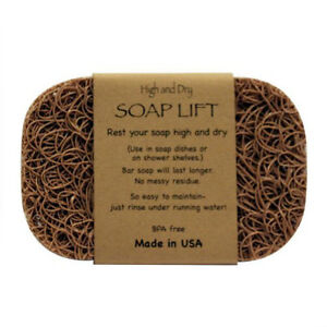 TAN SOAP LIFT SOAP DISH, THE BEST WAY TO KEEP YOUR SOAP FREE OF MUCK   - NEW