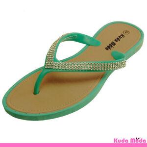 Women's Summer Bling Shinning Casual Thong Flat Flip Flops Sandals Slipper