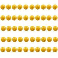50Pcs Plastic Whiffle Airflow Hollow Golf Tennis Practice Training Balls Yellow