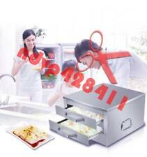 2-Layer Stainless Steel Steaming Food Kicthen Rice Roll Steamer Machine