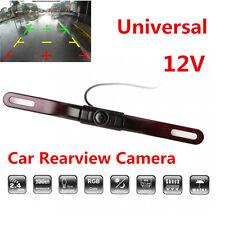 HD 12V Car License Plate Mount Wireless Rear View Backup Camera IR Night Vision