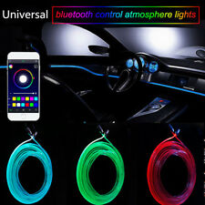 RGB Luz Led Interior Coche Neón Lámpara de tiras Sonido Bluetooth Móvil APP