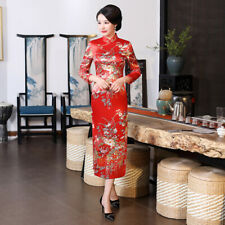 Vintage Chinese Womens Long Cheongsam Dress Qipao Cocktail Evening Party Gown