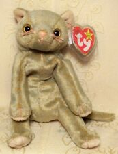 Ty Beanie Baby Scat Cat Kitty Kitten Collectible Stuffed Animal Plush Toy Mint