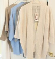 LEO & NICOLE Women's Open Front 3/4 Sleeve Knit Cardigan Relaxed Fit Variety NWT