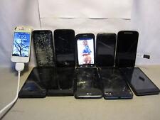LOT OF 11 ASSORTED BRAND SMARTPHONES (iphone4,LG,Samsung,ZTE,Nokia,motorola)