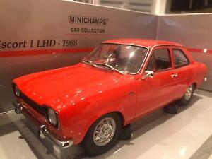 1/18 MINICHAMPS 1968 FORD ESCORT I LHD RED  USED MINT MEGA RARE***