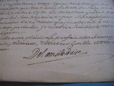 DE LAMICHODIERE Autographe Signé 1761 PREVÔT MARCHANDS PARIS HOPITAL LYON