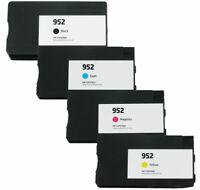 4PK Reman HP 952 Ink Officejet Pro 8710 8715 8716 8720 8725 8728 w/ ink levels