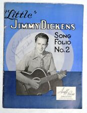 ESA3077. Vintage: Signed LITTLE JIMMY DICKENS SONG FOLIO #2 Acuff-Rose (1950s)