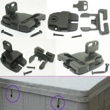 4pcs Hot Tub Spa Cover Security Locking Wind Straps Latch Lock & Key -With Screw