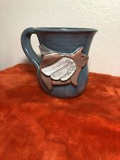 MudWorks USA Studio Art Pottery 3D Stoneware Mug When Pigs Fly GL3-99