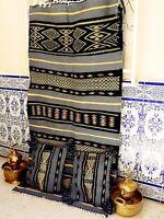 """Moroccan Rug Carpet Vintage Kilim Berber Handmade Rug Wool 6'5"""" x 3'6"""" free"""
