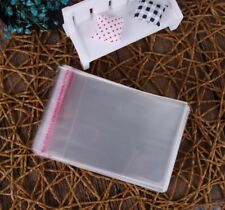 200Pcs(6x9 cm)Clear Self Adhesive Resealable Cello Cellophane Poly OPP Bags