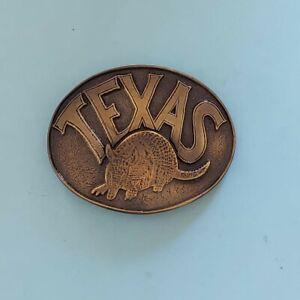 """Men's TEXAS Brass Belt Buckle 1 3/4"""" Belt"""