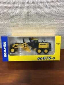 Komatsu GD675-6 Mini Car Toy Diecast Model Motor grader Limited