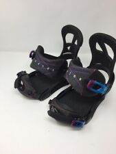 Burton Scribe 2016 Black Snowboard Bindings - M (Women's Boot 4-6) Youth 5k - 7k