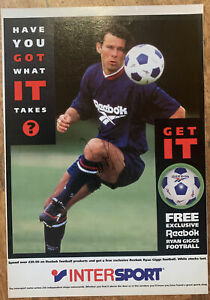 Signed Rookie Ryan Giggs Manchester United Magazine Poster 1991 Autograph 1990