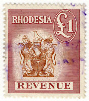 (I.B) Rhodesia Revenue : Duty Stamp £1