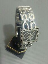 blumarine watch square completo acciaio,dial black pearl