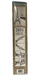 "EIFFEL TOWER Decal Sticker GIANT WALL MURAL Black PARIS Theme 42"" x 96"" LARGE 8'"