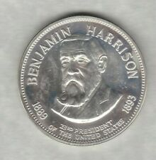 More details for franklin mint benjamin harrison 23rd president usa one ounce silver medal.