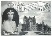 Queen Elizabeth at Glamis castle postcard