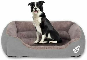 Dog Bed Rectangle Washable Pet Bed with Firm Breathable Cotton for Cats,